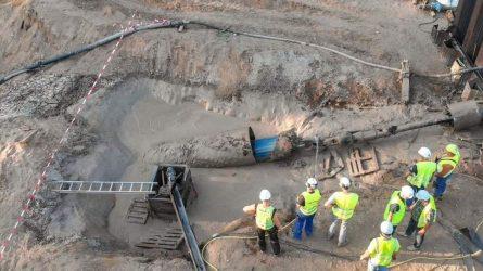 Įveiktas dar vienas svarbus GIPL statybos etapas – nutiesta pirmoji dujotiekio gija po Nemunu