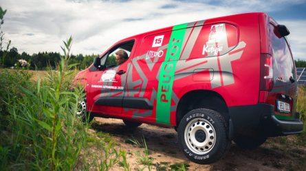 """""""Peugeot Partner 4×4 Dangel"""" pravažumo varžybose gali lygintis ir su pikapais"""