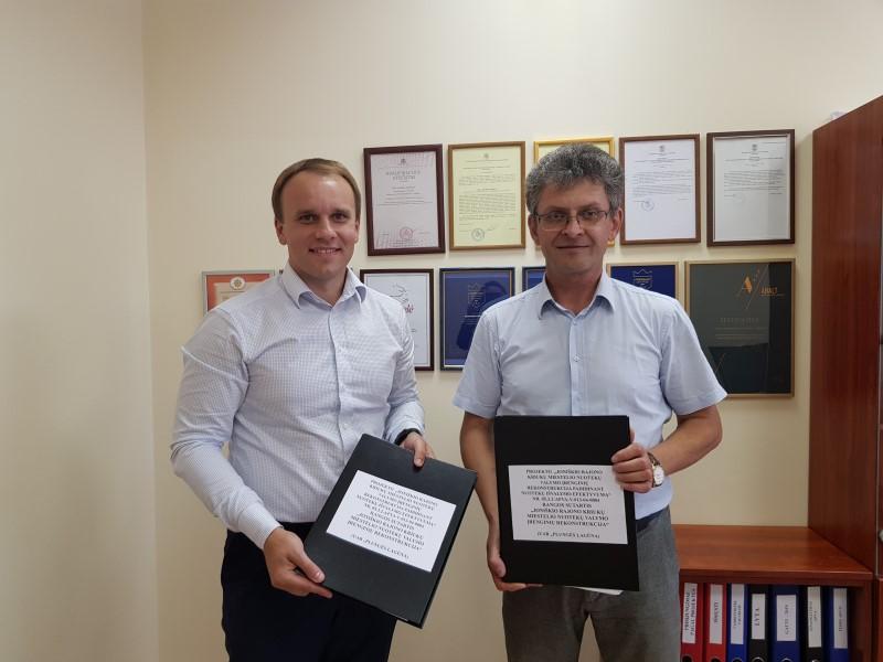 Pasirašyta sutartis dėl Joniškio rajono Kriukų miestelio nuotekų valymo įrenginių rekonstrukcijos