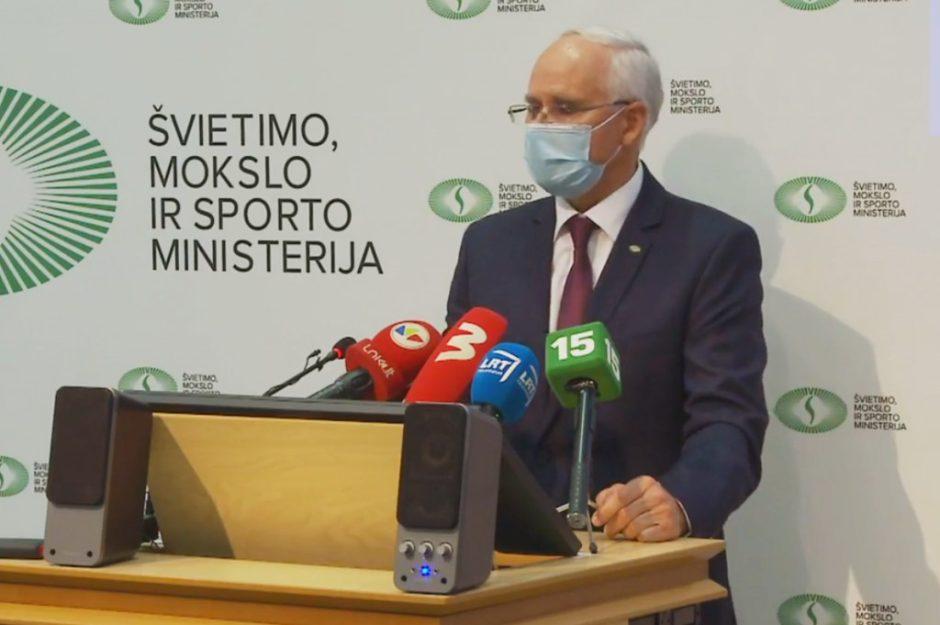 Švietimo ministras A. Monkevičius: pamokos mokyklose vyks laikantis saugumo reikalavimų
