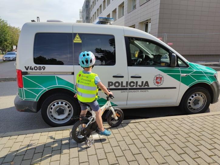 Rugsėjį – padidintas policijos dėmesys vaikų saugumui