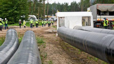 Įgyvendinant Baltijos regioną su Europa sujungsiančio dujotiekio GIPL projektą beveik pasiekta pusiaukelė