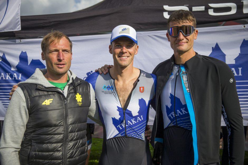Net 9 LTeam sportininkai varžėsi triatlono varžybose Druskininkuose