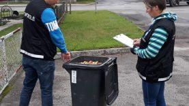 Obuoliai krituoliai į atliekų konteinerį negali būti metami