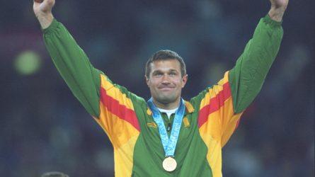 """Dukart olimpinis čempionas V. Alekna apie triumfą Sidnėjuje: """"Jis mano atmintyje paliko gilesnį pėdsaką"""""""