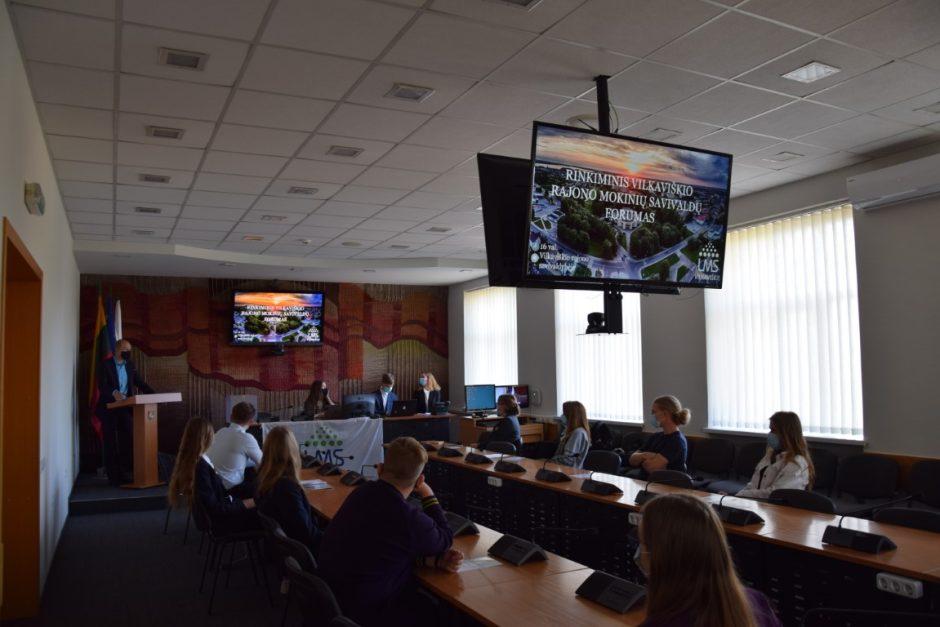 Mokinių savivaldų forume – naujos pirmininkės rinkimai
