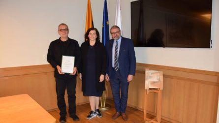 Savivaldybėje pasveikintas Antanas Markuckis