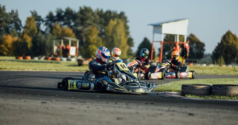 Rokas Baciuška su trenksmu baigė Lietuvos kartingo čempionatą