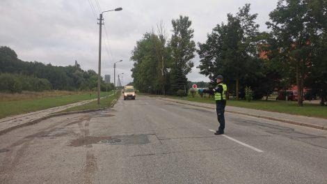 Rugsėjį policija skyrė ypatingą dėmesį moksleivių saugumui