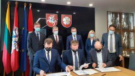 Dalyvaujant ministrui Jaroslavui Narkevič pasirašytos sutartys dėl Alytaus geležinkelio viaduko rekonstrukcijos