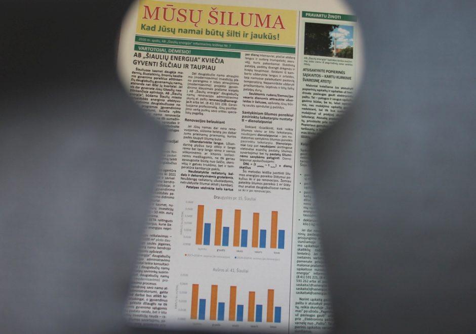 """Pirmas žvilgsnis į naują AB """"Šiaulių energija"""" informacinio leidinio numerį"""