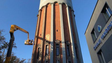 Atnaujintas Šiaulių vandentiekio bokštas ir sutvarkytas atidengtas unikalus kryžius