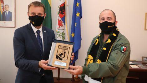 Šiaulių meras susitiko su NATO kariais