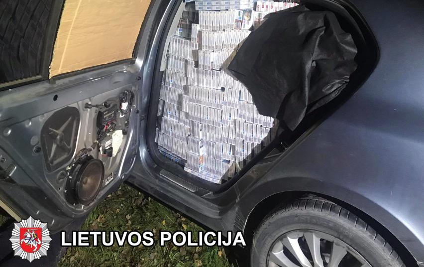 Sulaikyta tranzitu per Lietuvą gabenta cigarečių kontrabanda