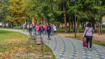 Panevėžys atsinaujina! Jaunimo sodas po rekonstrukcijos – vėl pilnas lankytojų