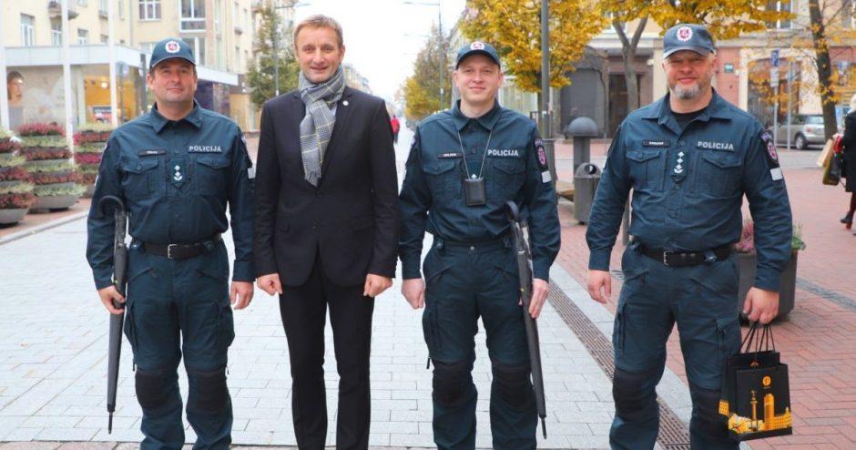 Šiaulių meras pasveikino kriminalistus