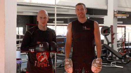 """Boksininkas T. Tamašauskas treniravosi su V. Bareikiu: """"Jis mane nustebino savo jėga"""""""