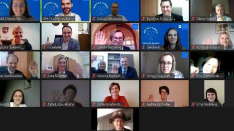 Virtualūs sveikinimai Lietuvos mokyklos lyderės vardą pelniusiai šv. Benedikto gimnazijai