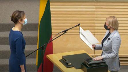Darbą pradeda švietimo, mokslo ir sporto ministrė Jurgita Šiugždinienė
