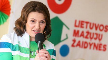 """Pirmoji ponia D. Nausėdienė paskelbė projekto """"Olimpinis mėnuo"""" prizininkus"""