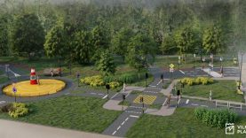 Naujoje viešojoje erdvėje Karoliniškėse planuojama ir saugaus eismo mokymo zona vaikams