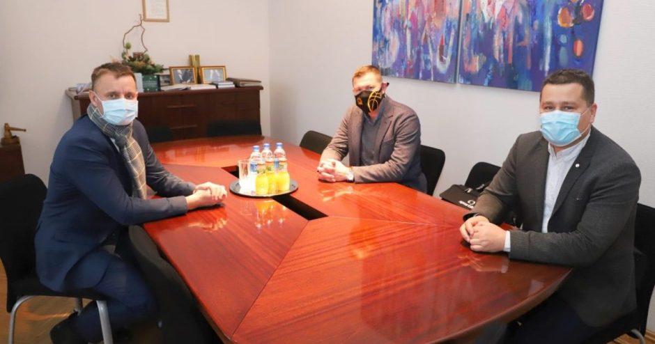 Šiaulių meras susitiko su naujuoju krepšinio klubo vadovu