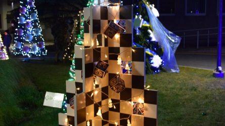Širdies šilumą ir savo kūrybą dovanoję vilkaviškiečiai pagerbti virtualiame Kalėdinių eglučių papuošimo konkurso apžvalgos renginyje