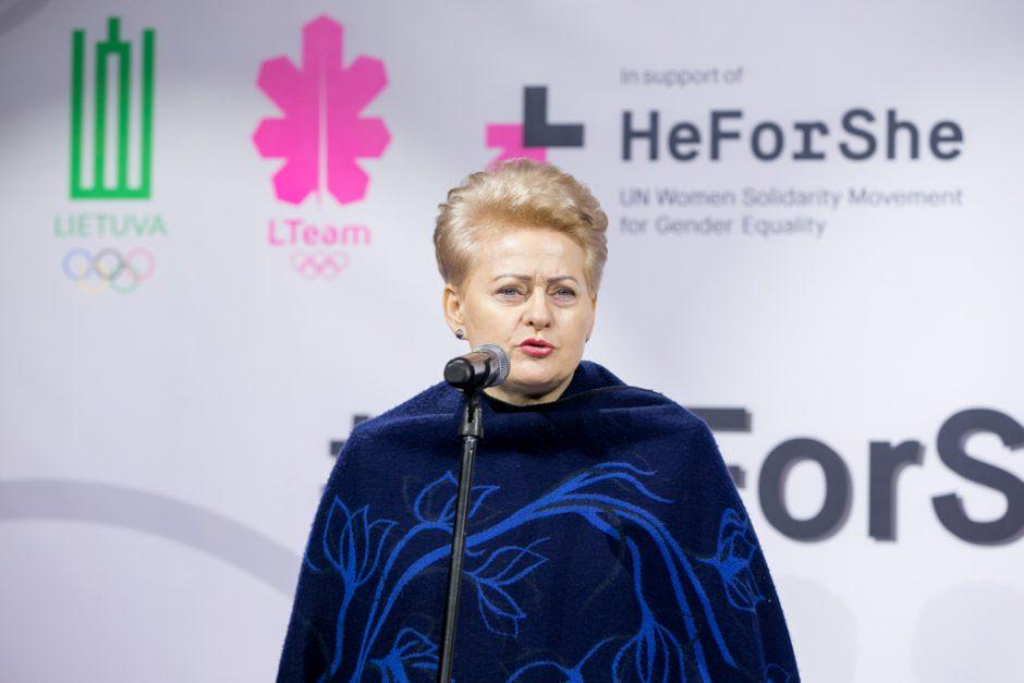 """Dalia Grybauskaitė: """"Lygybė yra bendras – kiek moterų, tiek ir vyrų – tikslas"""""""