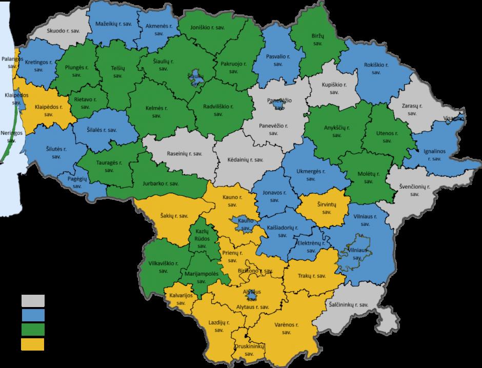 Rūšiavimo statistika Lietuvos savivaldybėse