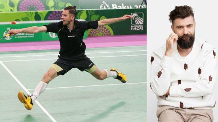 Netikėtas badmintono mačas atvedė iki federacijos prezidento posto