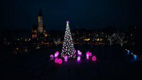 Šiauliuose jau gyvuoja Kalėdų dvasia – miestą nušvietė paslapčia įžiebta Kalėdų eglė
