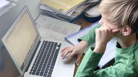 Ekspertų taryba: vaikams iš sunkumų patiriančių šeimų siūloma leisti nuotoliniu būdu mokytis mokyklose