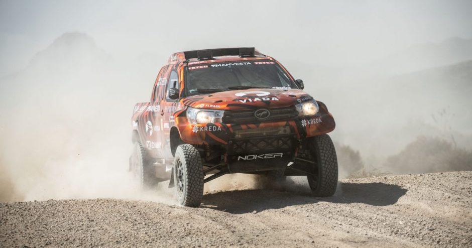 Pirmąjį Dakaro greičio ruožą įveikęs KREDA komandos ekipažas pasiekė finišą