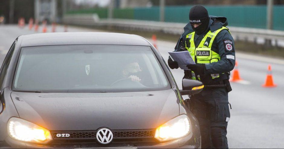 Vidaus reikalų ministrė: policija keičia taktiką vykdant asmenų judėjimo kontrolę tarp savivaldybių