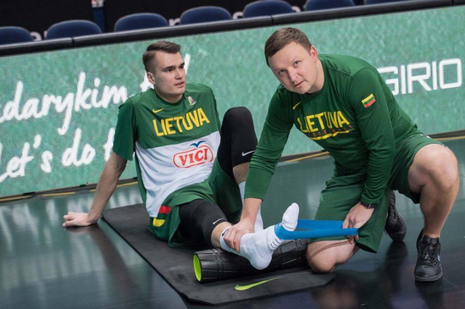 """Fizinio rengimo treneris Martas Skrabulis: """"Krepšininkai į rinktinę atvažiuoja skirtingos būklės"""""""