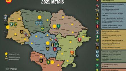 Sausio 7 d. sudaryti 2021 metų karo prievolininkų (šauktinių) sąrašai