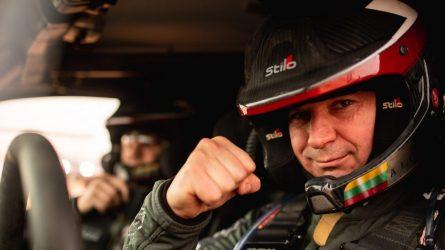 Dakaro pusiaukelė: geriausią rezultatą pademonstravęs Antanas Juknevičius pasiekė šeštąjį greičio ruožo finišą