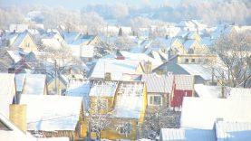 Plungės miesto gatvių ir šaligatvių tvarkymas žiemos sezono metu, esant sniego dangai