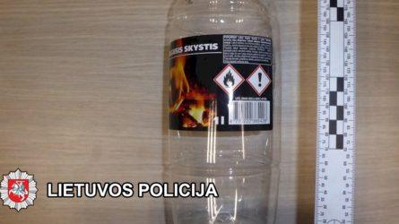 Klaipėdos pareigūnai sulaikė du asmenis pasikėsinusius visuotinai pavojingu būdu sunaikinti turtą