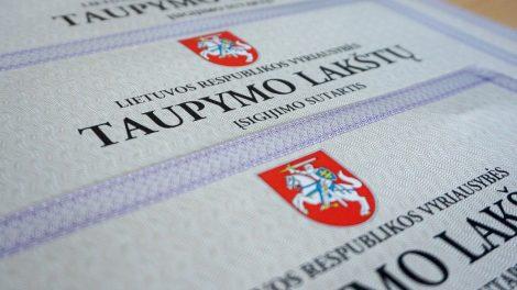 Finansų ministerija nutraukia Vyriausybės taupymo lakštų platinimą