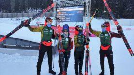 """Europos čempionatą istoriniu pasiekimu užbaigę biatlonininkai: """"Dėl tokių akimirkų sportuojame"""""""