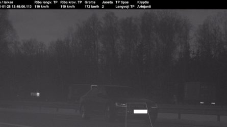 "Kauno rajone užfiksuotas 172 km/val greičiu lėkęs ""Audi"""