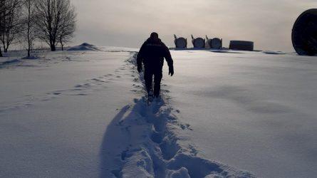 Pas pasiligojusį vyrą patruliai klampojo pusantro kilometro