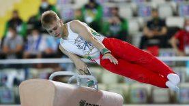 Perpektyvaus gimnasto planuose – kova dėl vietos Paryžiaus žaidynėse