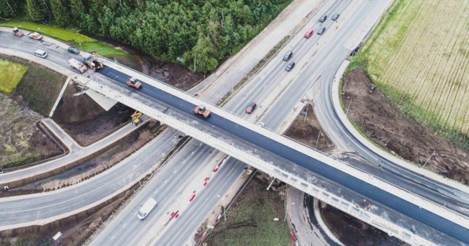 """Šiais metais bus baigta didelė dalis darbų magistralėje A1, projektuojama """"Via Baltica"""""""