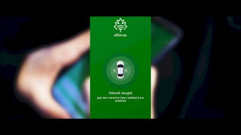 """""""eKlevas"""" telefone – išmanusis jauno vairuotojo asistentas ir pagalbininkas"""
