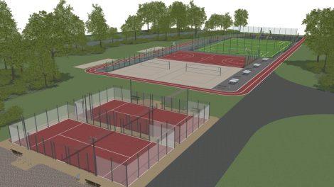 Besiplečiančiame sostinės Paupio mikrorajone iškils atnaujintas sporto aikštynas