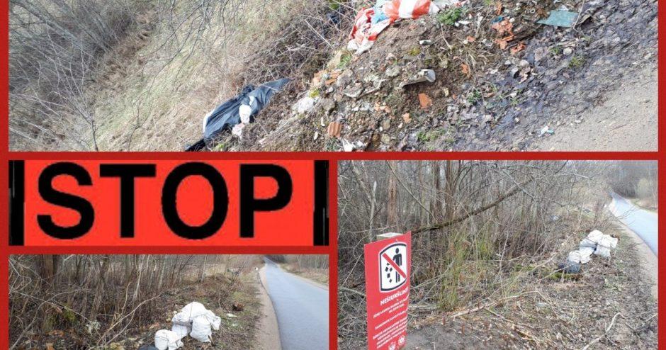"""🚯 Piktavališkam teršimui saugomose teritorijose sakome """"STOP"""""""
