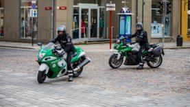 Klaipėdos apskrities kelių policija jau pradėjo patruliuoti ir tarnybiniais motociklais