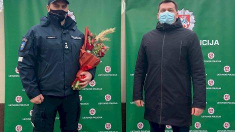 Pristatytas naujas Ignalinos rajono policijos komisariato viršininkas Donatas Šemeklis
